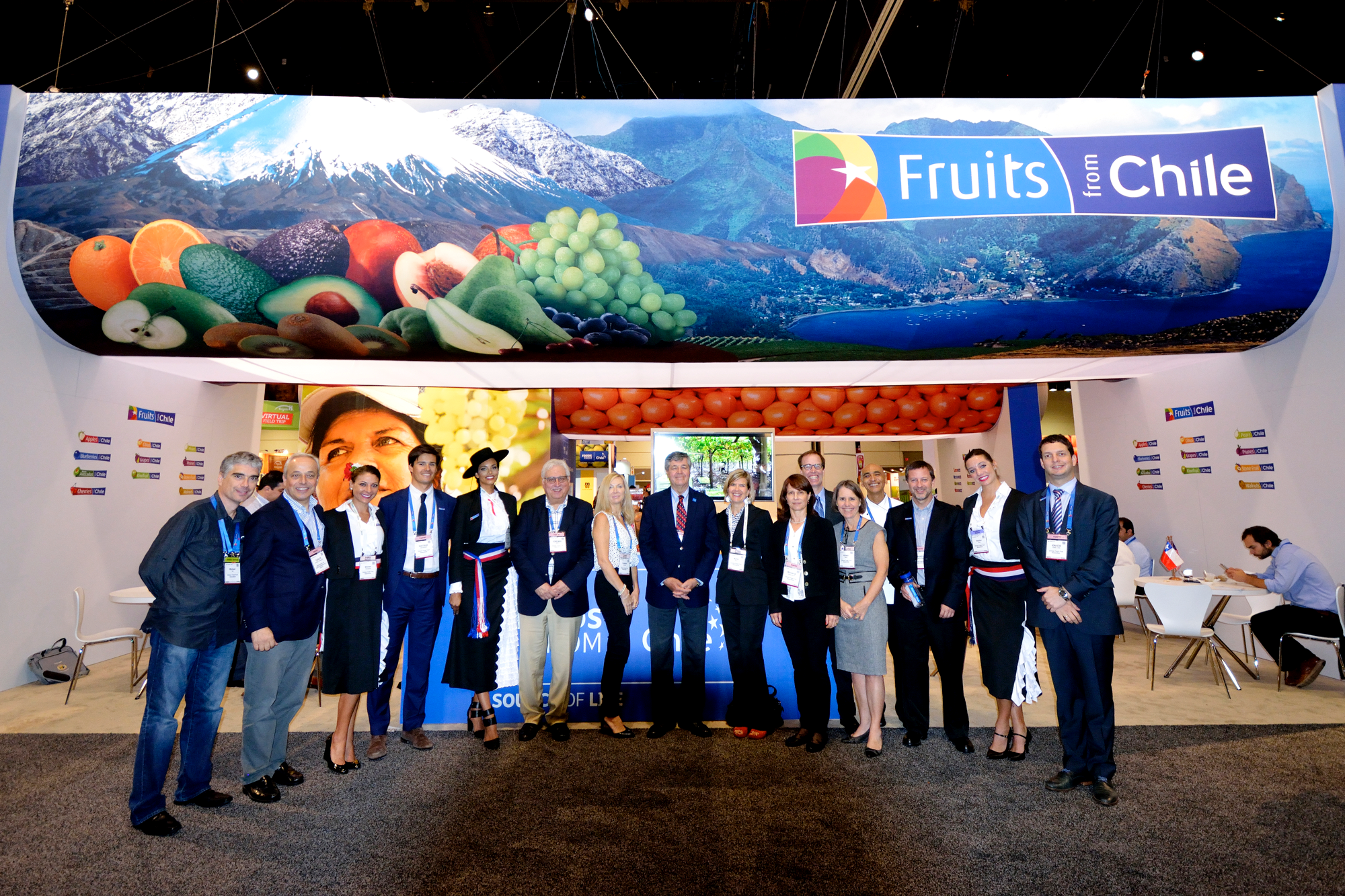 pma 2016 booth fruits foods from chile